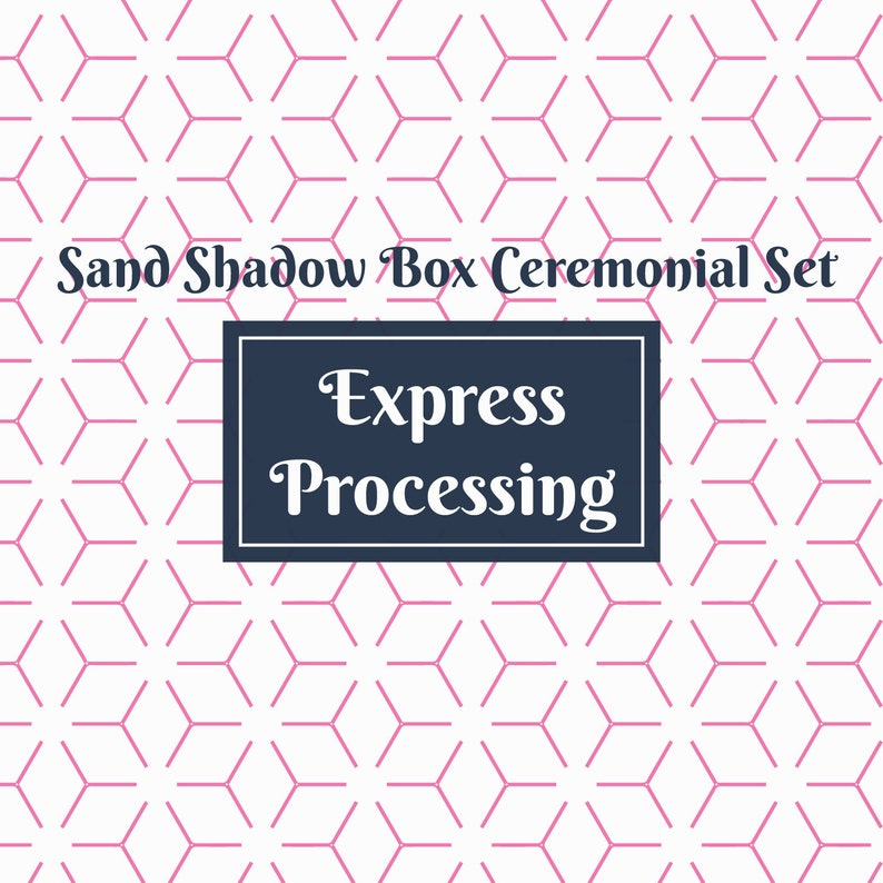 Express Processing For Sand Shadow Box Ceremonial Set