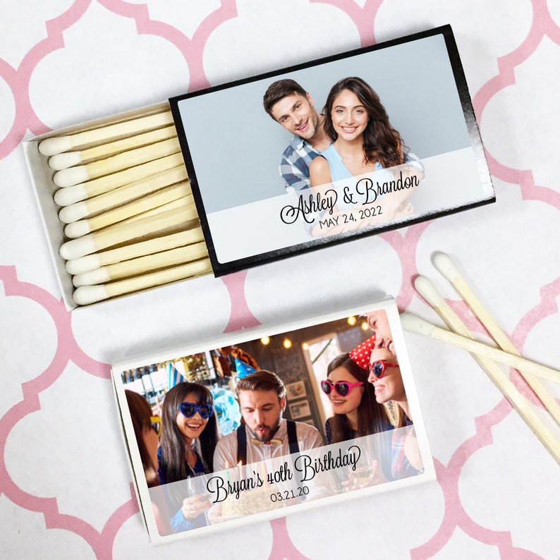 MAE81256N 50 PIECES Photo Memories Matchbox Personalized with Stickers