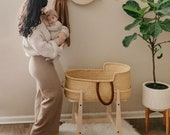 Johari Ghanaian Bolga Moses Basket (stand not included - please read all details)