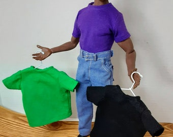 Phicen M36 male action figure doll t-shirts in short or long sleeves in your choice of colors.
