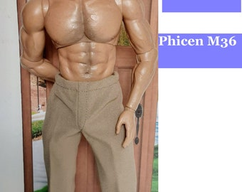 Pull-On pants for AT027, Adonis and Phicen M36 doll/action figure 1:6 scale - Choose from 6 colors