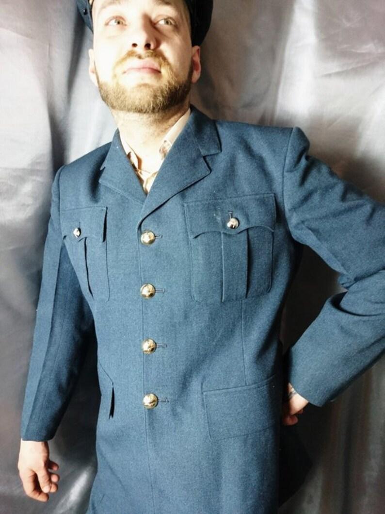 Mens vintage RAF dress uniform no 1, Royal Air Force, blazer, trousers and  cap, military uniform
