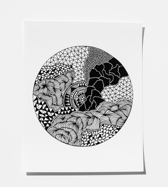 Abstract Art Print Wall Art Home Decor Abstract Art Line Work Illustration Black And White Gift Ideas Minimalist Home Pattern Ink