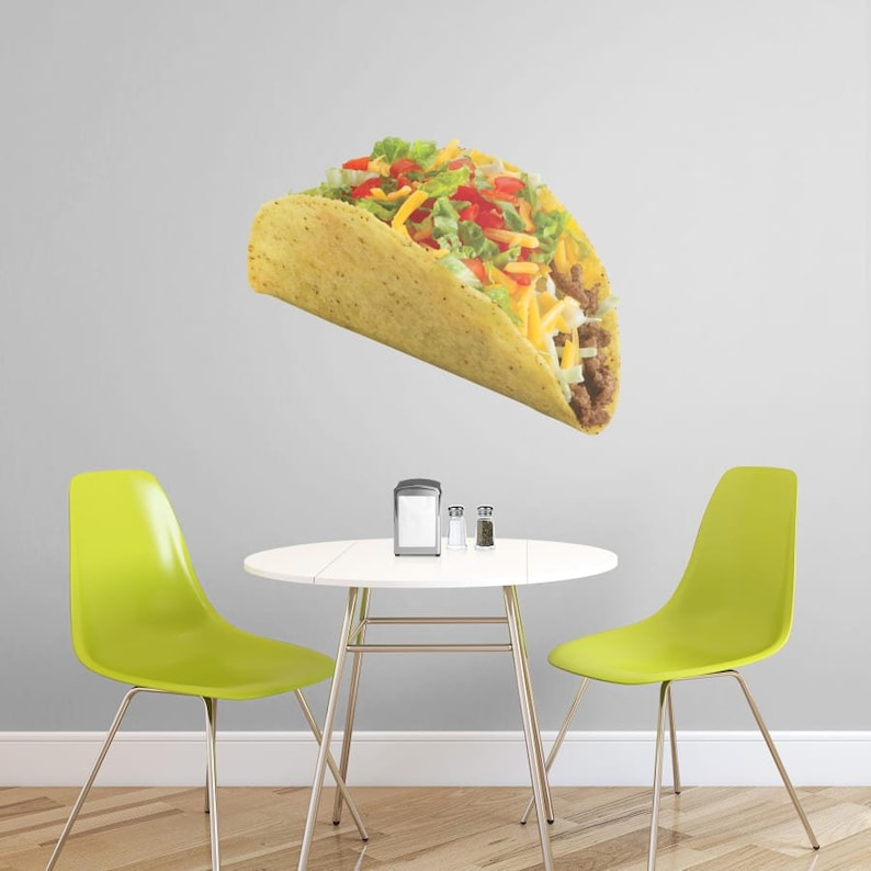 Taco Fathead Giant Food Removable Wall Decal Multiple Sizes Available
