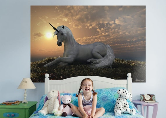 Fathead Unicorn Large Wall Decal - Giant Removeable, Re-positional Wall Graphic