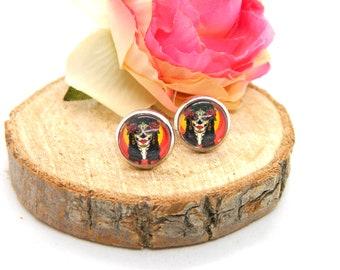 Cabochon Studs • Earring • La Catrina • Women's Earring