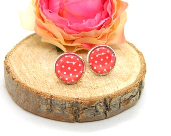 Cabochon Studs • Earring • Rockabilly Style • Cabochon Earring