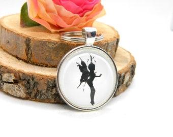 "Keychain Cabochon Pendant Keychain ""Fairy"""