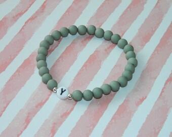 Acrylic bead bracelet bracelet beaded bracelet customizable letter