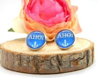 Cabochon Studs • Earring • Ahoi• Maritime Cabochon Earring • Women's Earring