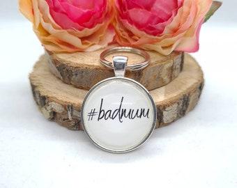 Cabochon pendant keychain pendant Bad Mum