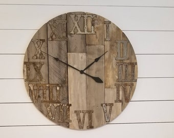 Superieur Rustic Oversized Clock. Can Customize. Perfect For Any Room!
