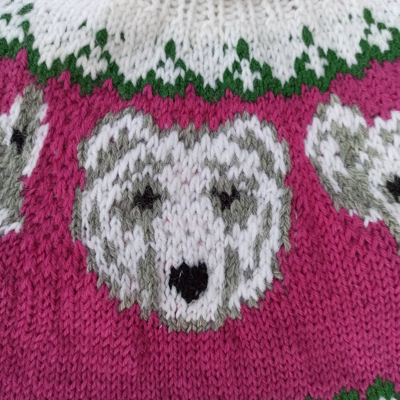 gift for Christmas 4-6 years old baby sweater white sweater with bear Knitted children sweater fashion soft