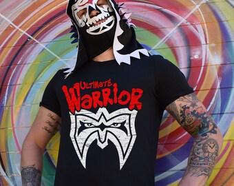 a871b3f0eaa0 Ultimate Warrior Retro T-Shirt - The Warriors Parody - WWE WCW NXT New  Japan Pro Wrestling