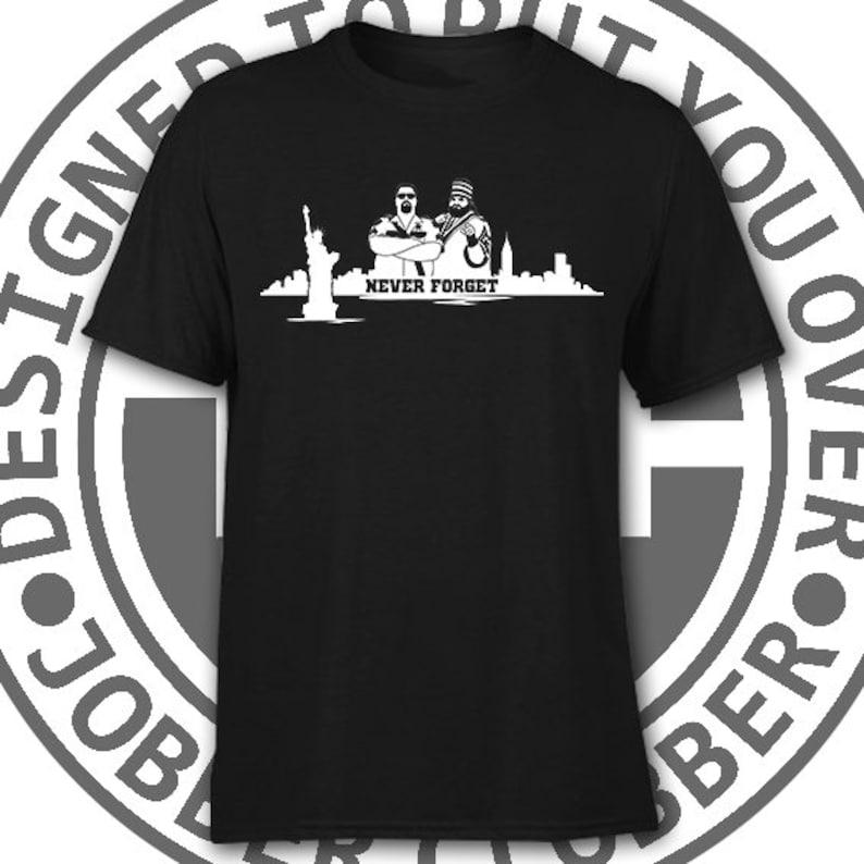 1fa99251e Twin Towers retro wrestling t-shirt Akeem Big Boss Man WWE   Etsy