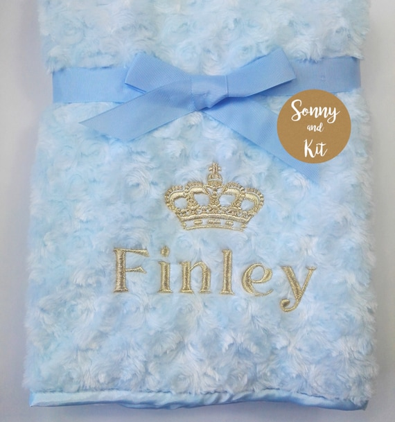 Personalised Birth Blankets Custom Made Gift Boy Or Girl Present Embroidered