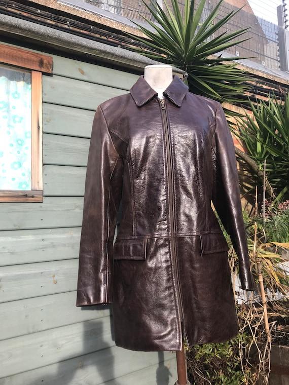 Vintage 90s leather jacket grunge size 10