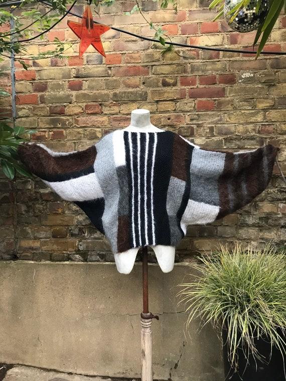 Vintage 80s sue bradley batwing handmade jumper mo