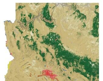 Arizona Landscape wall map