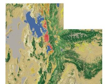 Utah Landscape wall map