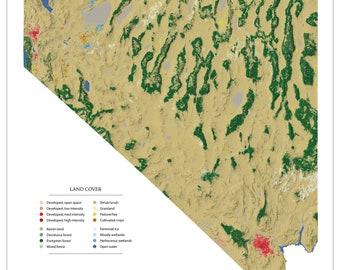 Nevada Landscape wall map
