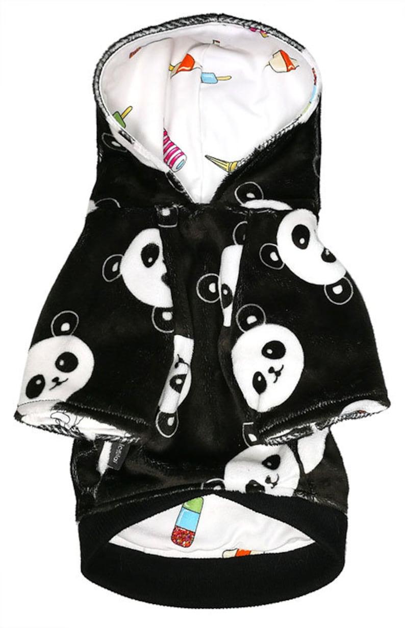 Hoodie black panda