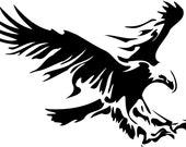Airbrush stencil paint stencil DIN A4 Eagle laser cut