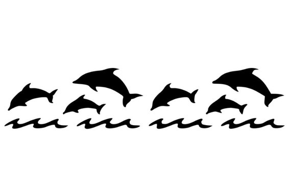 delfin schablone