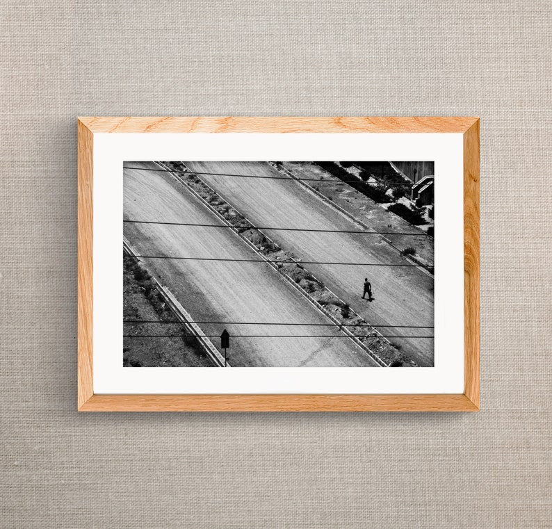 wall decor poster art landscape Black and White man wall art wall hanging picture hangings photo print People home decor