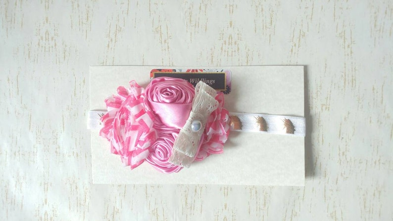 6 To 12 Month Baby Headband In Unicorn Print With Flower Cluster