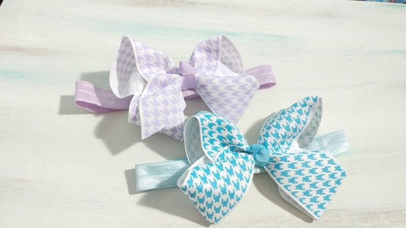 Infant Bow Topped Headband Set