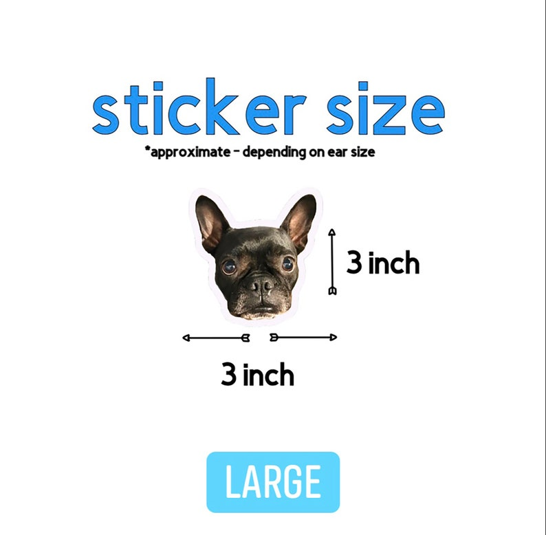 Pet Face Sticker Dog Lover Gift 3 Pack Pet Photo Sticker Custom Dog Stickers Laptop Removable Vinyl Sticker My Dog Face Sticker