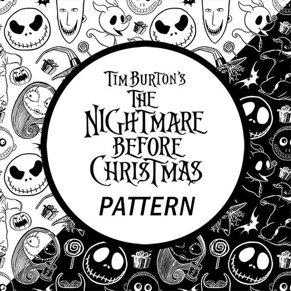 The Nightmare Before Christmas Pattern Fabric Print Diy Scrapbook Wallpaper