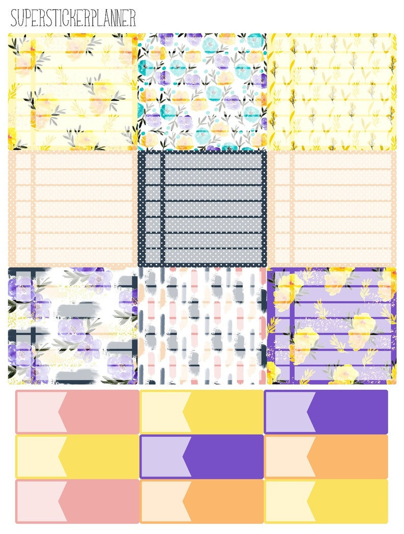 Monthly for Erin Condren Lifeplanner\u2122 ~Pick Any Month~ May Flowers