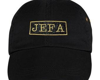 Jefa Black Dad Hat  cd8fd1e38ab6