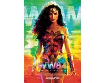 Details about  /24x36 14x21 Poster Wonder Woman 1984 Gal Gadot Movie Hot Gift G823