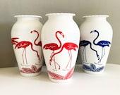 Anchor Hocking Fire King Vitrock Flamingo Vase - Red or Blue