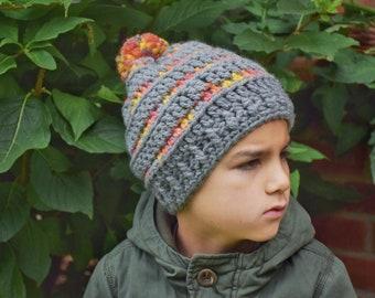 8ede880bf1c6 Crochet chapeau, printemps automne chapeau au crochet, chapeau de filles  garçons chapeau, bonnet pompon, bonnet de laine, crochet chapeau coloré, ...