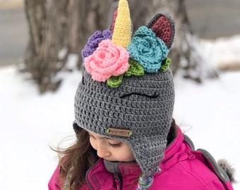 Unicorn hat crochet for girls d2c584c9284