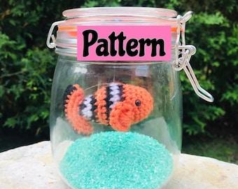 PATTERN Fish in jar crochet