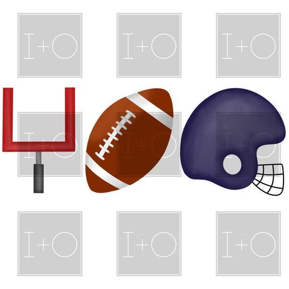 Blue Red Ole Miss Football Helmet Trio Watercolor Printable Etsy