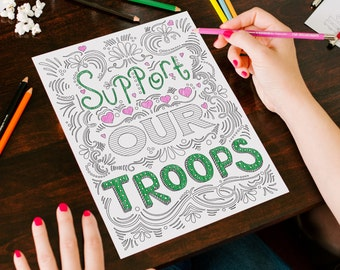 Official U.S. Army Coloring Book | Army Mom | Army Wife | Military Family | Military Deployment | Adult Coloring Book