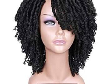 BEST SELLER! Dreadlock Kinky Hair Wig Short Curly Braided Twist Dreadlock Wigs for Men & Women!
