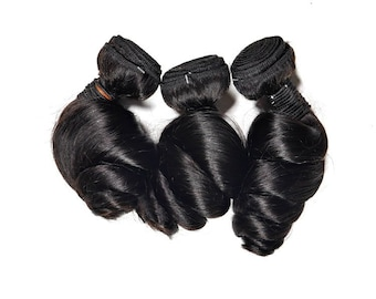 Fashion Loose Wave Virgin Remy Unprocessed Human hair Extensions, Wavy Human Hair Prefect for Wigs and Sew-Ins!