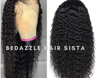 High Quality Kinky Curl 13x4 Front Lace Baby Hair And Pre Plucked Hairline Curly Wigs  S/M/L Cap Size Available For Black Women