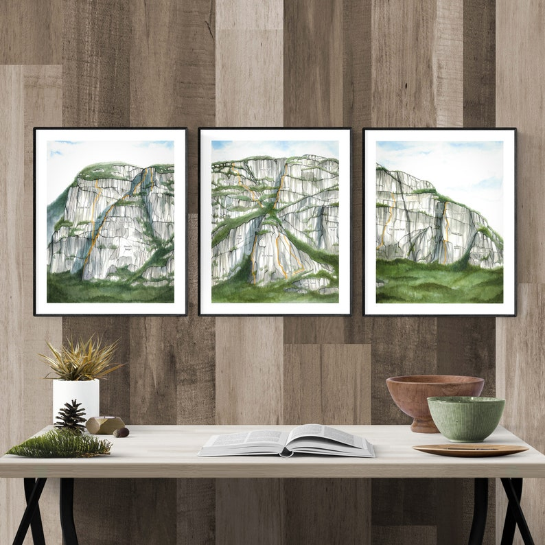 Stawamus Chief Climber's map  major walls features and image 0