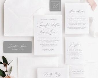Wedding Invitation Template Download Etsy