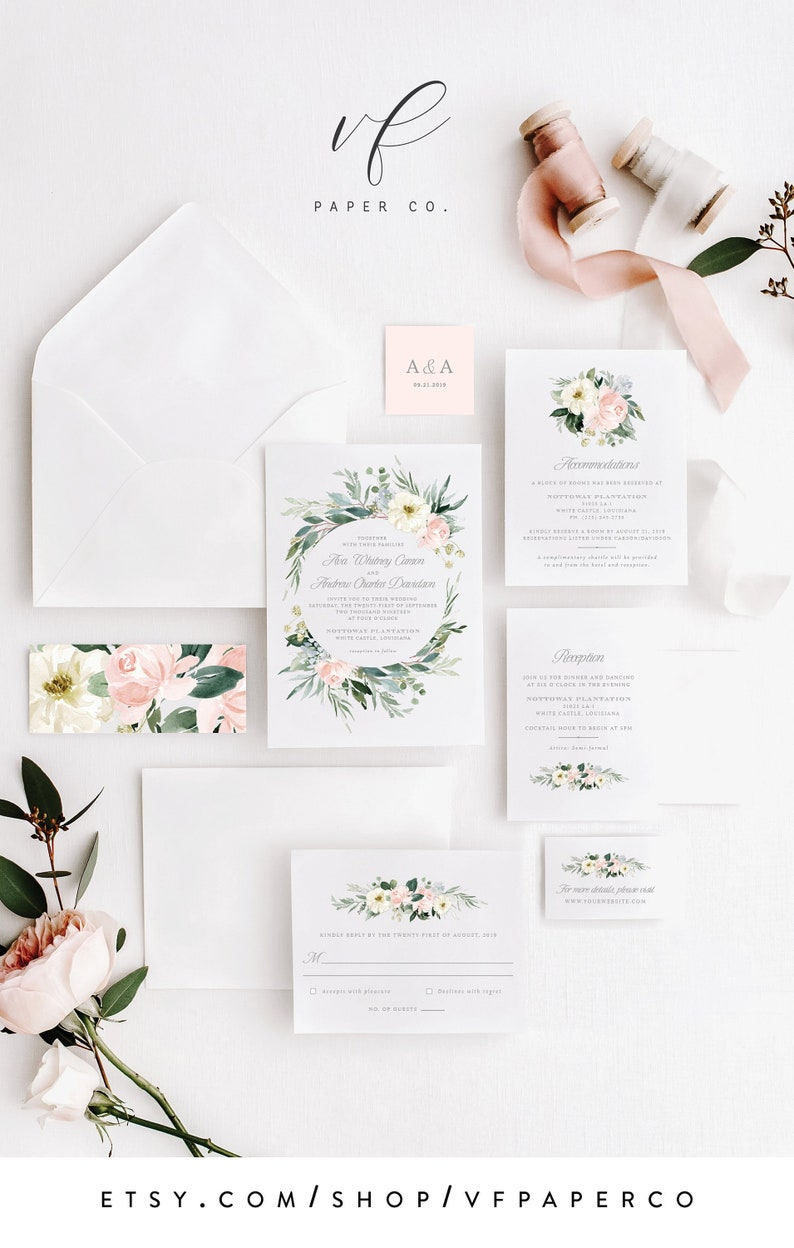 Image 0: Floral Wedding Invitation Template Hd At Reisefeber.org