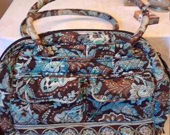 d0cd48c1d3 Vera Bradley zippered tote or purse - Retired Pattern Java Blue