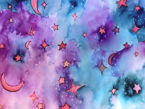 Stars in the Sky Drawstring Bag